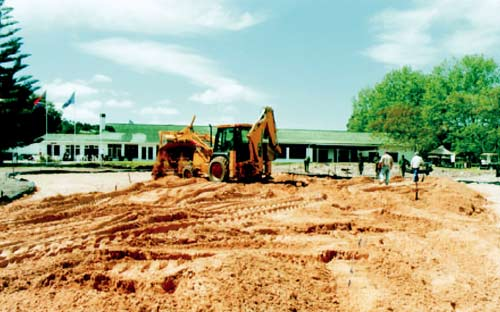 Building of the new greens