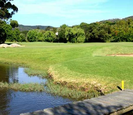 8th hole green at Knysna Golf Club