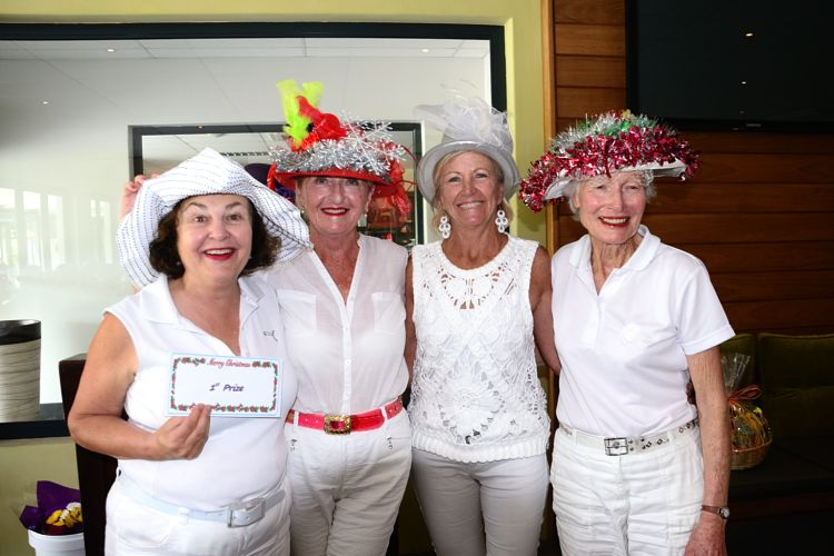 Ladies Christmas Comp winners
